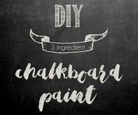 3 Ingredient Chalkboard Paint