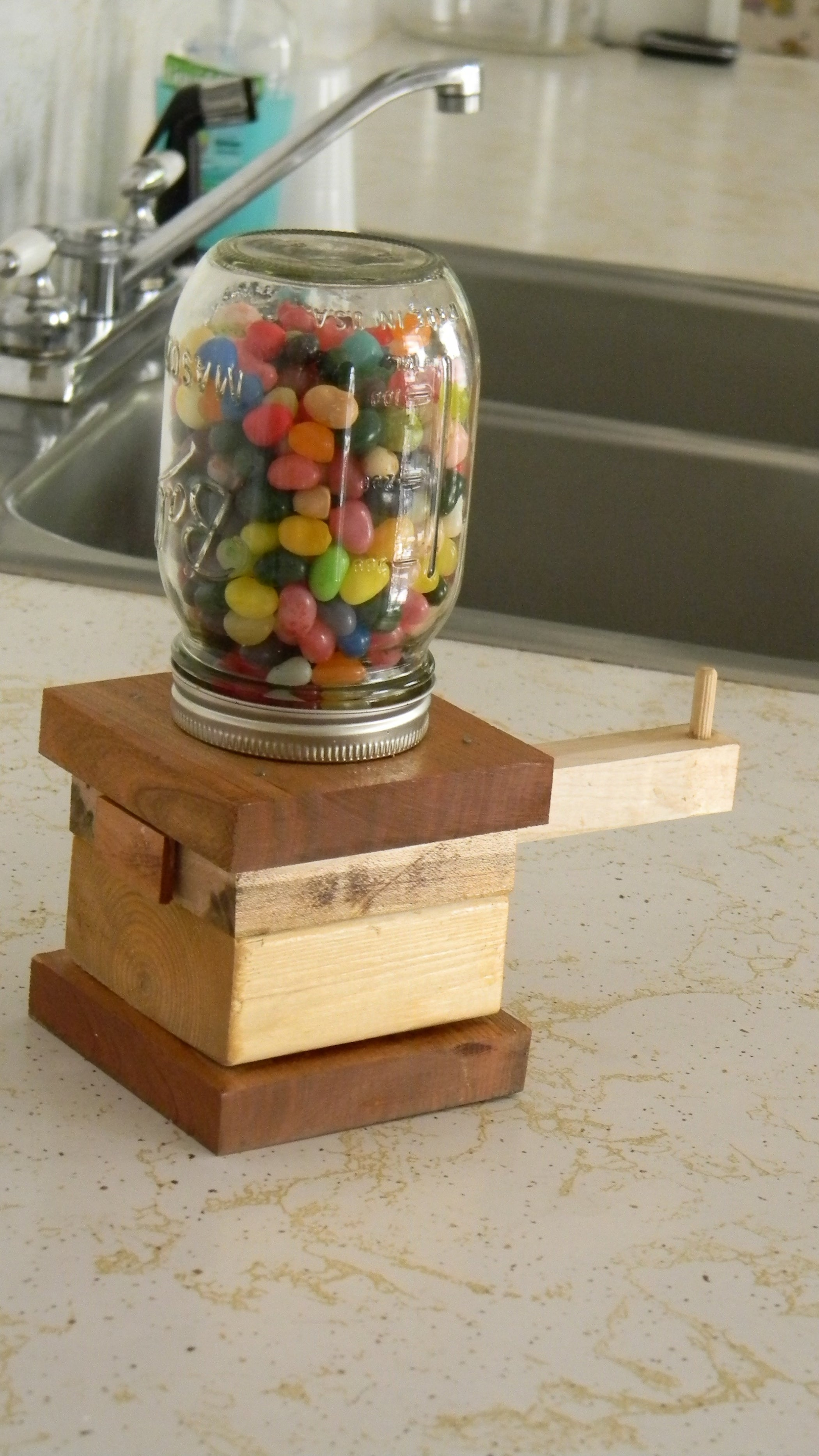 The Awesomest Jelly Bean Dispenser Ever