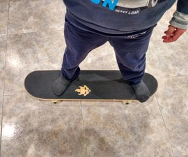DIY Custom Grip Tape Already on a Skateboard!