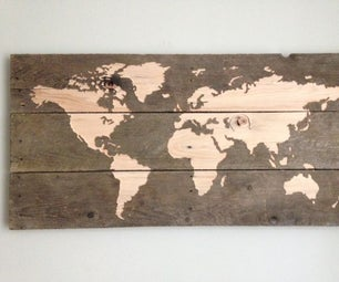 World Map - CNC Pallet Board