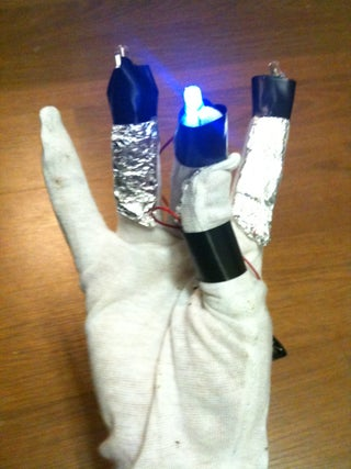 Cyborg Light Painting Gloves!  (an Easy LED Switch)