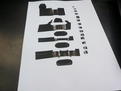 Print, Cut, Fold and Glue Together