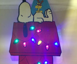 LED Light Up Snoopy Dog House Decoration