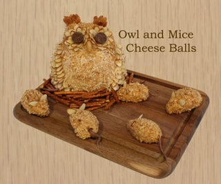 Owl and Mice Cheese Balls