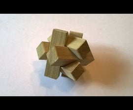 How to Make a 6 Piece Burr Puzzle with Hand Tools