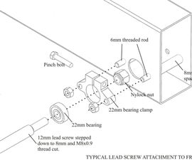 Cutting a Step for a Bearing on a Long Lead Screw