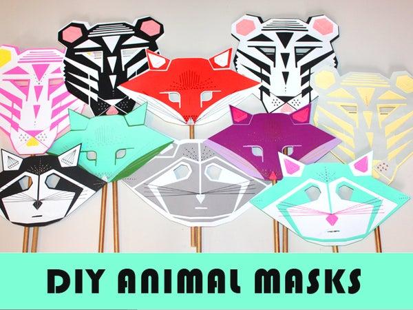 DIY Modern Animal Masks