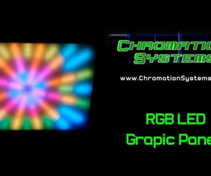 Graphic 8 Channel RGB LED Panels With DMX Control