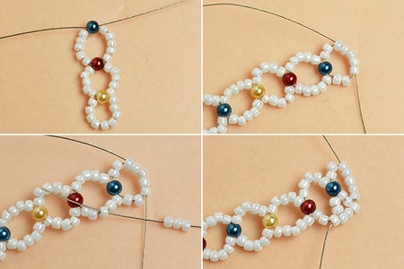 Make the Second Part of the Seed Beads Bracelet