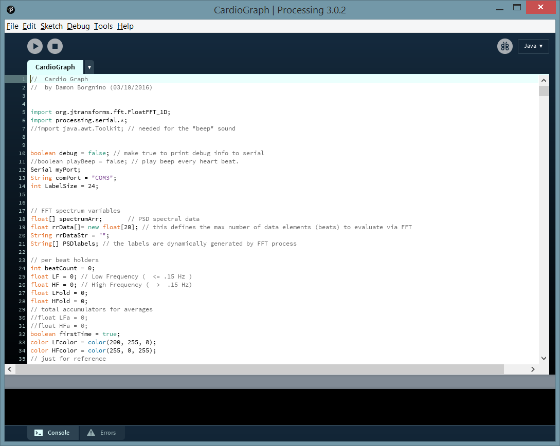 Picture of Processing Code