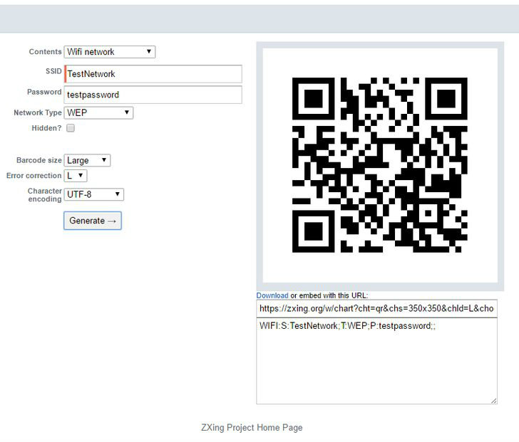 Picture of Generate a QR Code