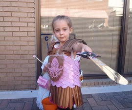Homemade knight costume made from what?