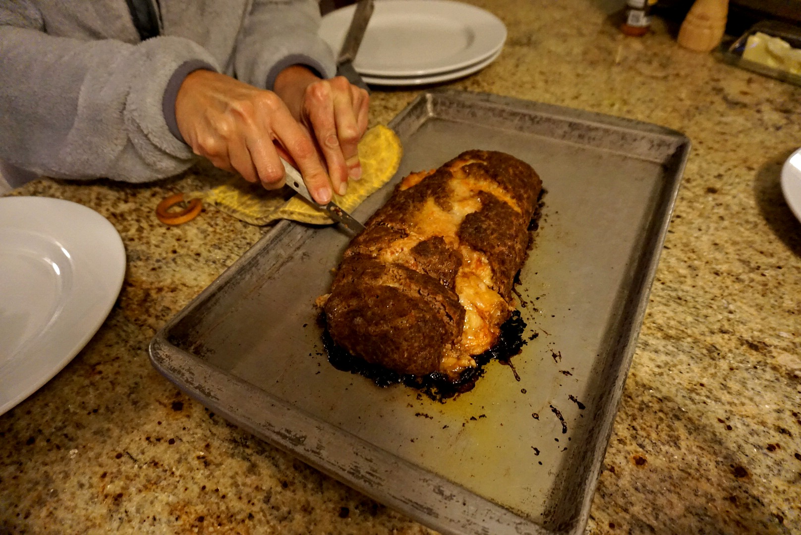 Picture of Serving the Meatloaf