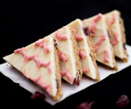 How to Make Easy No Bake White Chocolate & Cranberry Tiffin