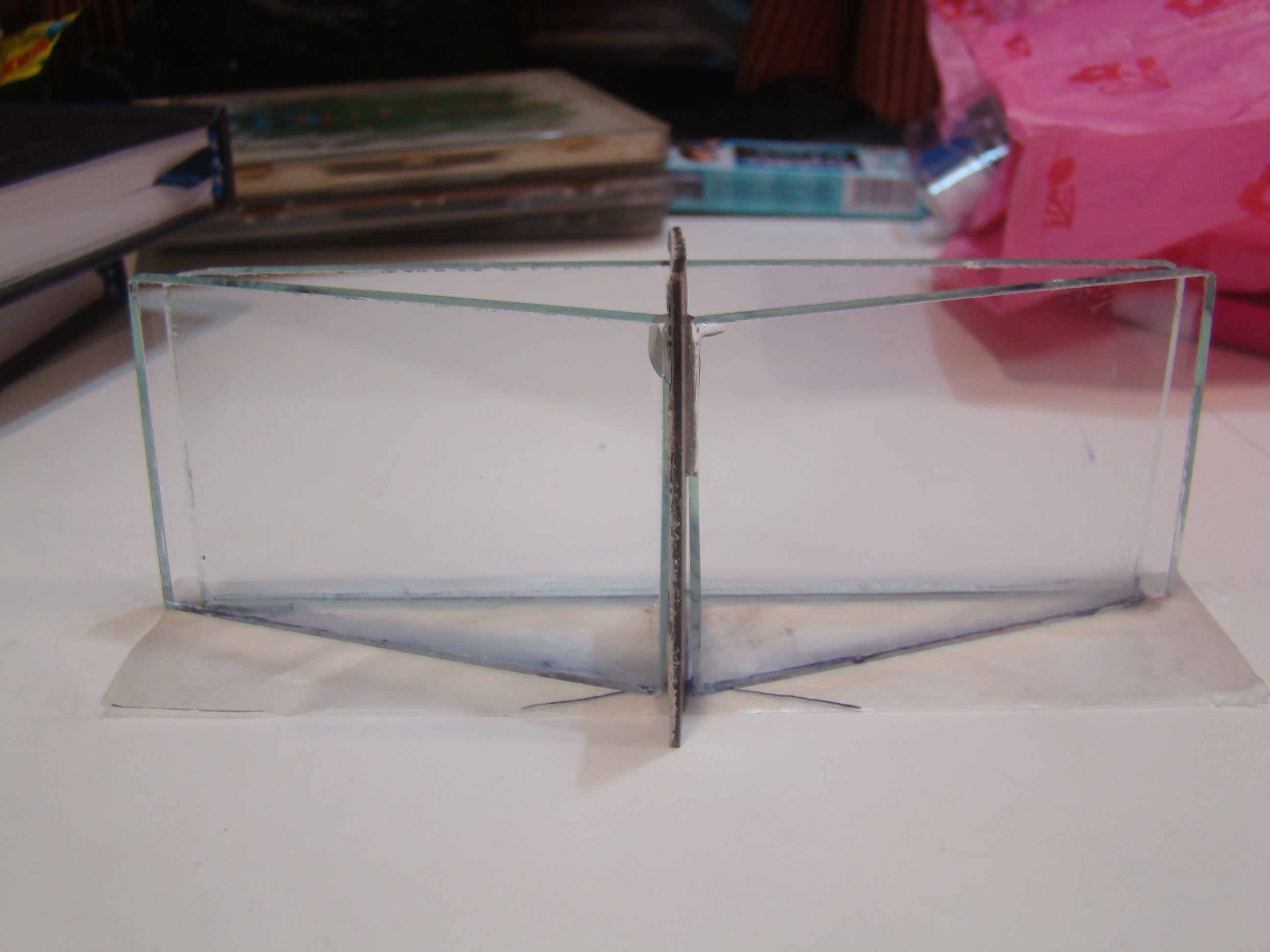 Picture of Sticking the Glass Pieces Onto the Plastic Base