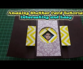 How to Make Window Shutter Cards