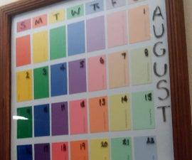 Paint Sample Calendar