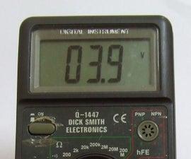 Lithium Li-ion 18650  Multimeter
