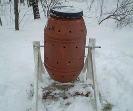 Compost Tumbler on a Stand