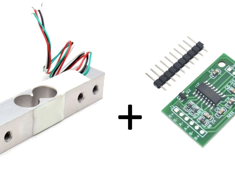 DIY Load Cell Weight Sensor 1KG Portable Scale+HX711 Weighing Sensor Ad Modle SI