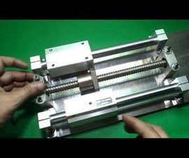 Homemade XY Axis Slide for DIY Vertical Mill Router Mechanism CNC