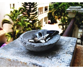 Cement Casted Key Bowl