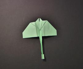 Stingray Paper Airplane