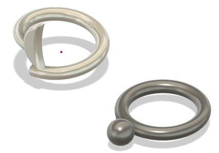 2 Rings (moon and Sphere)- Fusion 360