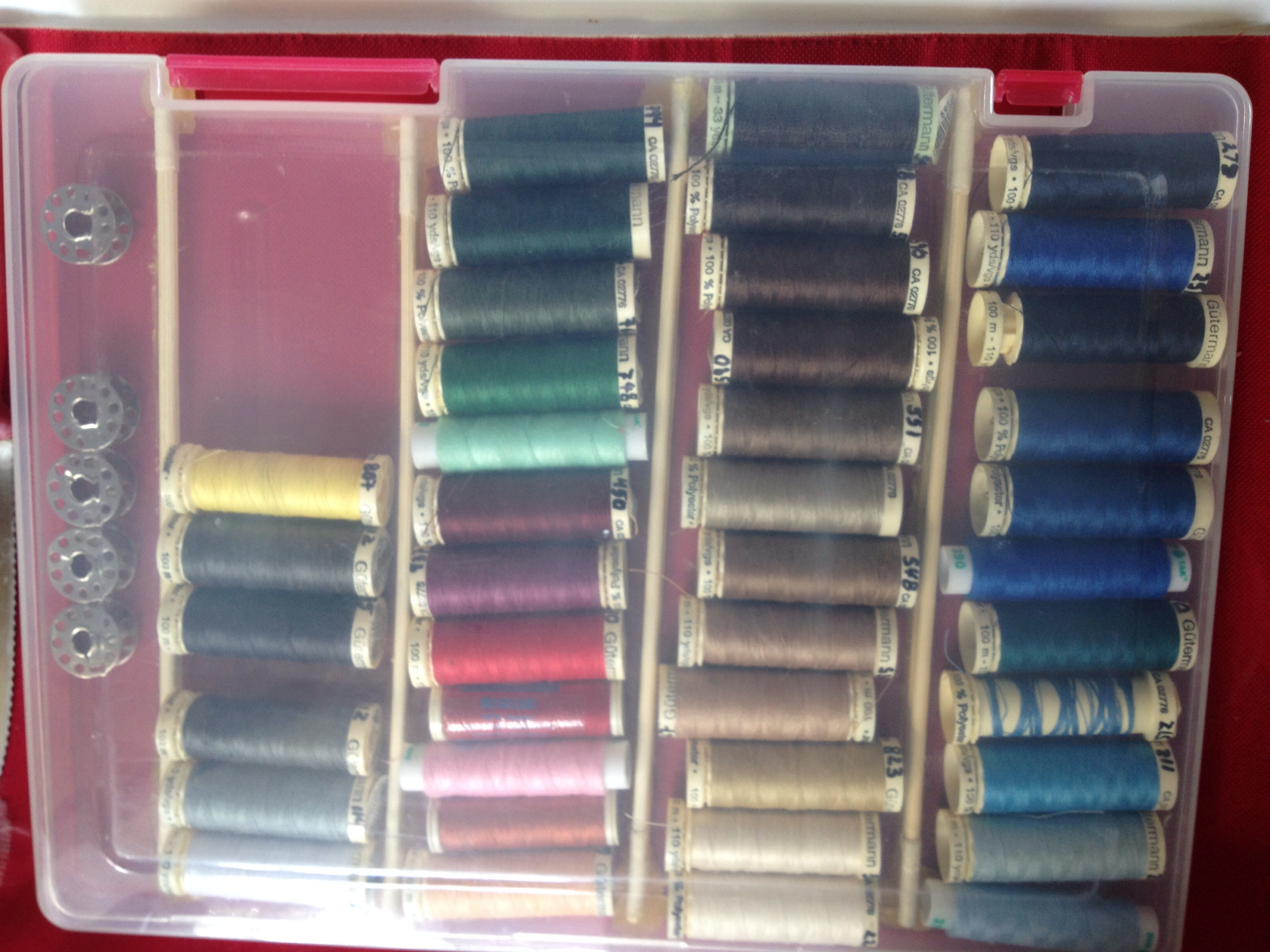 Picture of Clear Thread Spool Storage