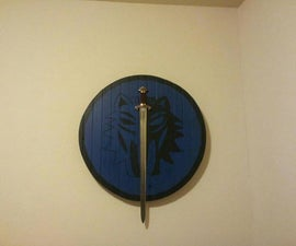 Viking War Shield Table or Sword Mount.