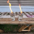 Tiki Torches From Food Jars