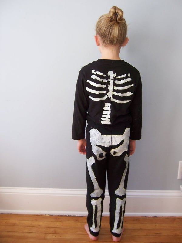 Freezer Paper Skeleton Costume