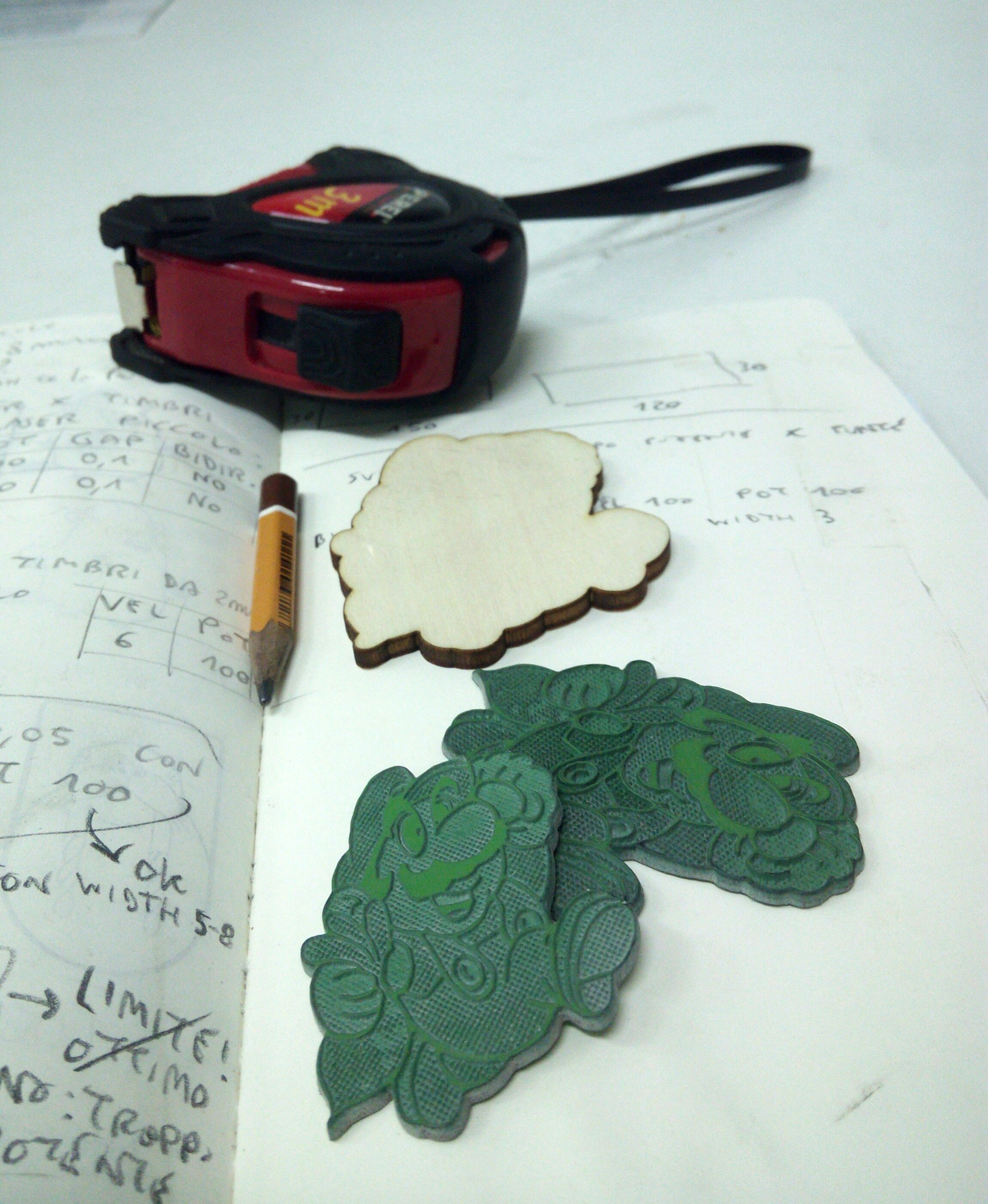 Picture of Laser Cut the Stamp Support
