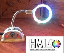 HALO: Handy Arduino Lamp Rev1.0 W/NeoPixels