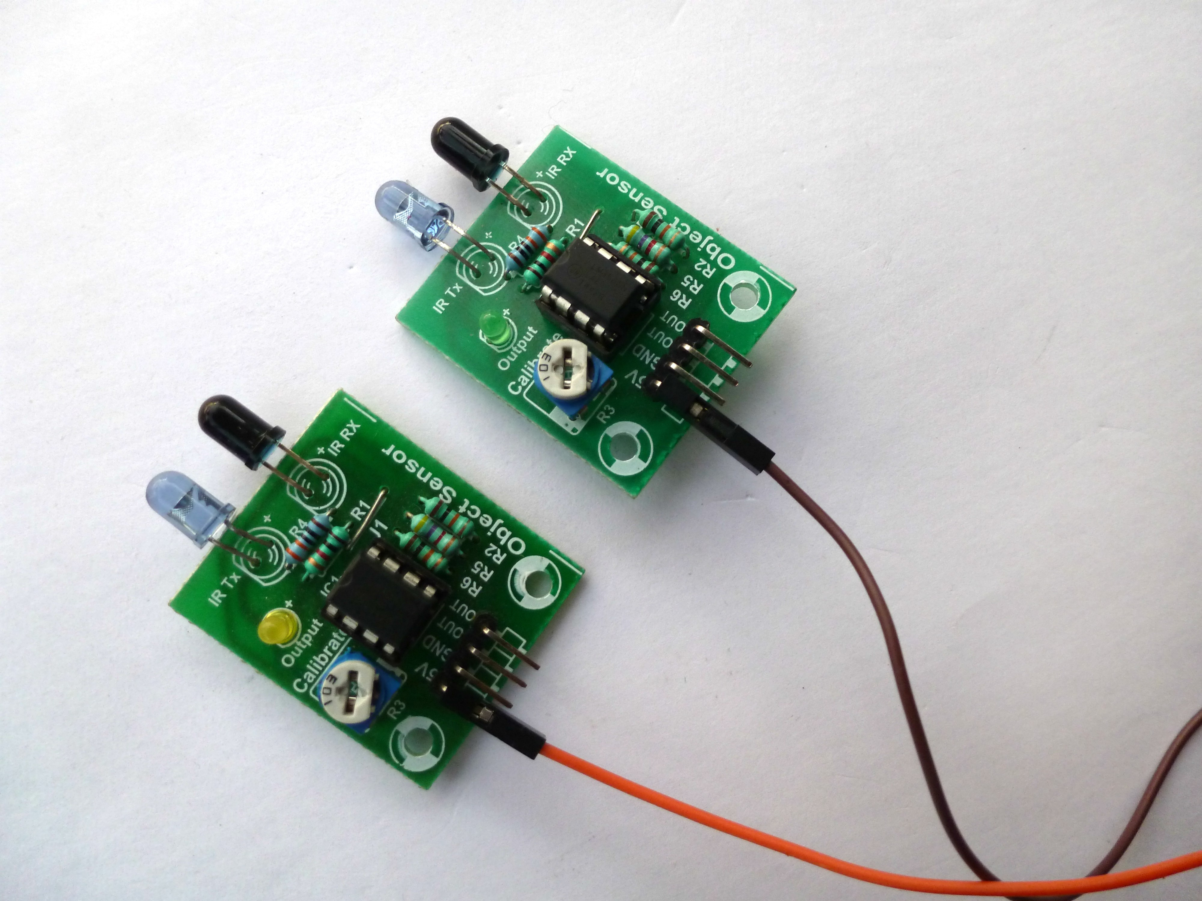 Picture of IR Sensor Connections