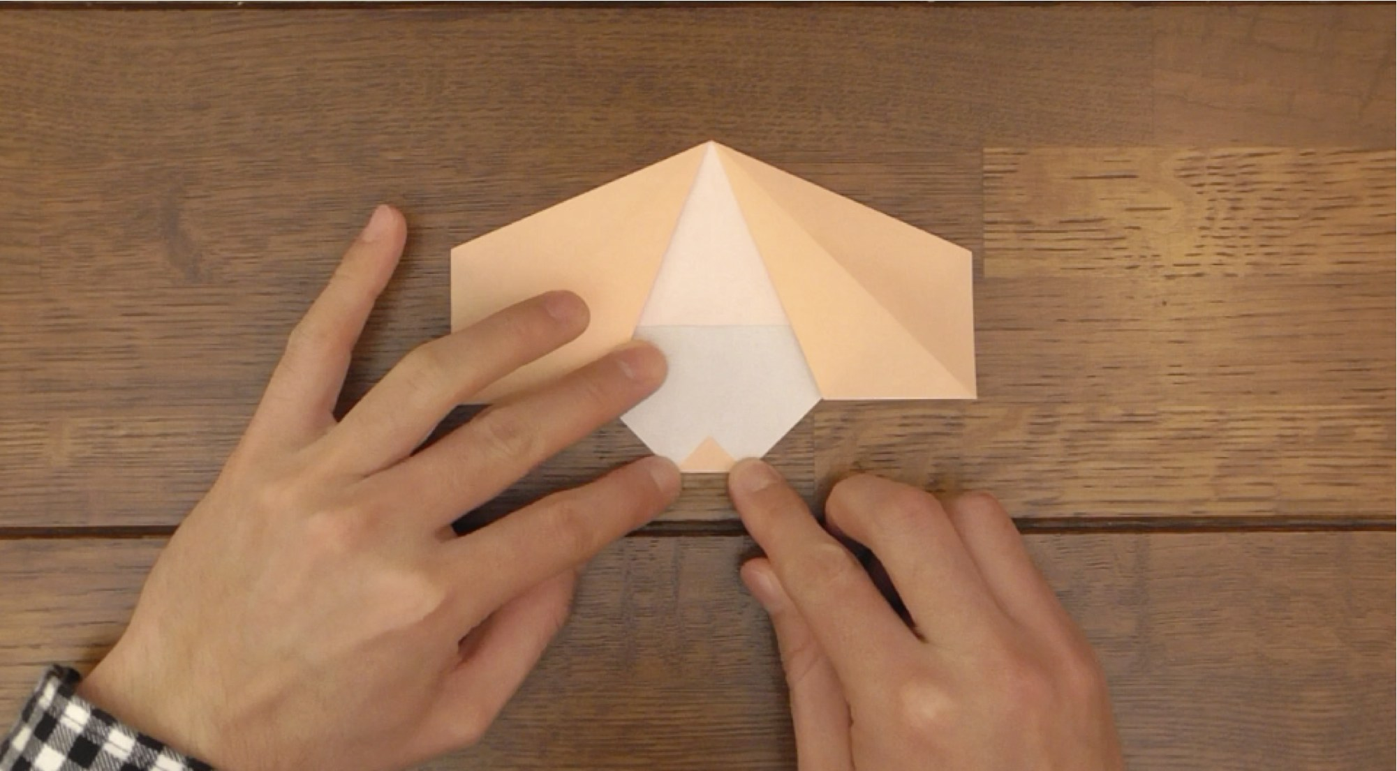 Picture of Fold Up a Small Triangle
