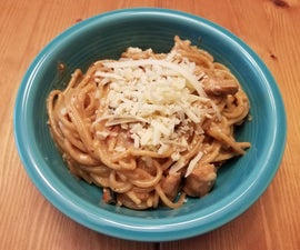 Chicken and Bacon Carbonara - Gluten Free