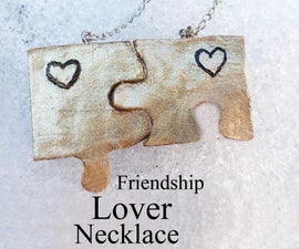 Puzzle Friendship or Lover Necklace (keychain) - Charms