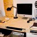 Plywood Desk with several storage compartments