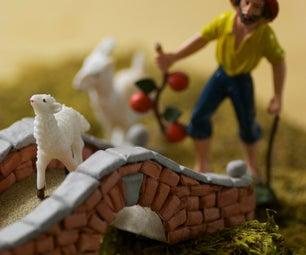 Brick Bridge for Your Nativity Scene or Tabletop Game