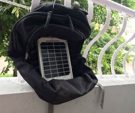 Solar Travel Backpack..To Charge on the Go