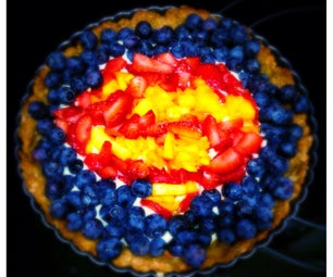 Superman Fruit Dessert