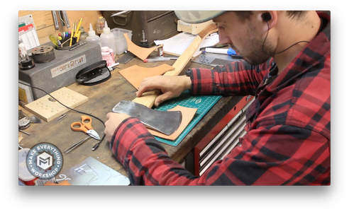 Laying Out a Leather Sheath.