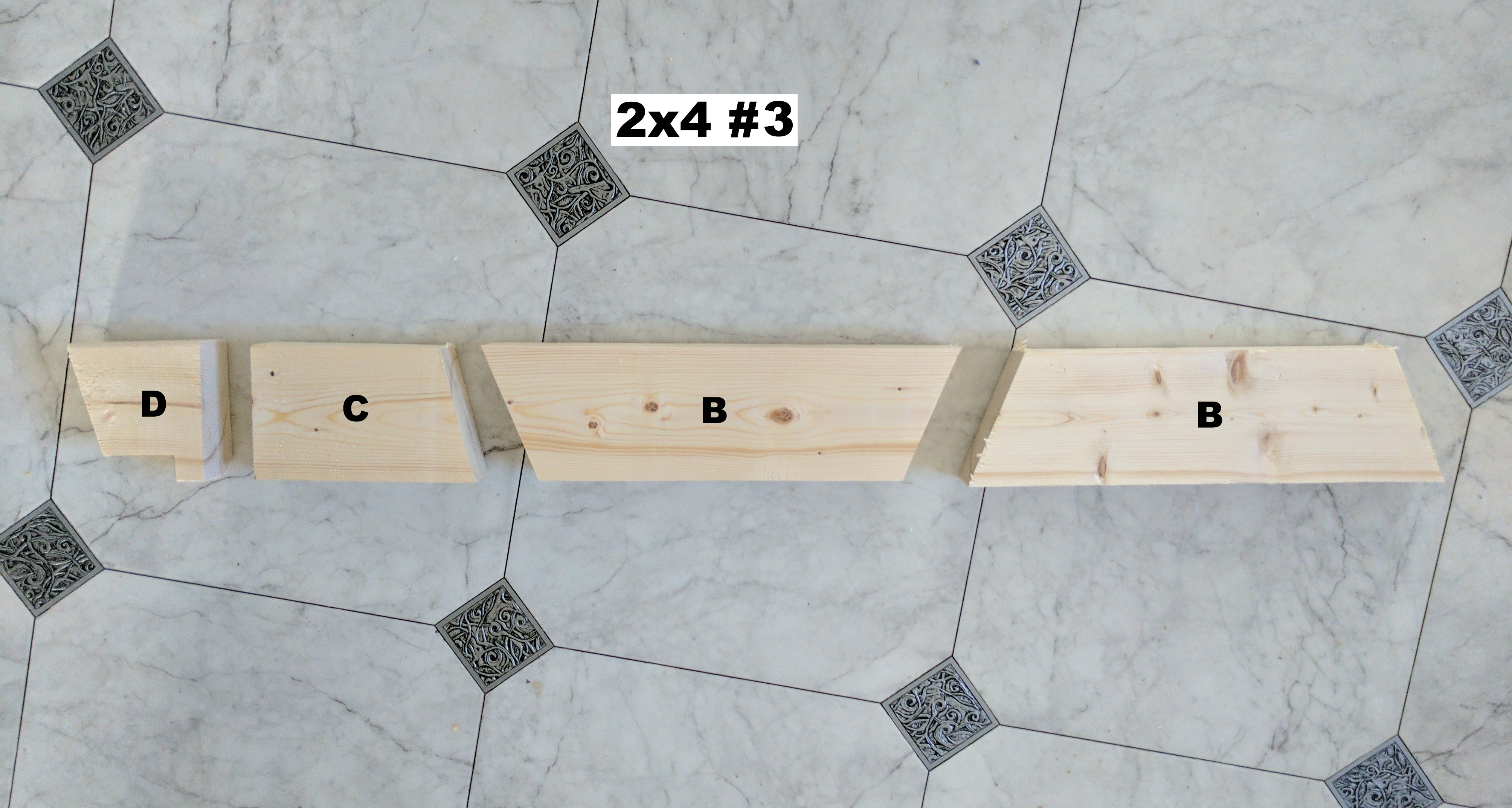 Picture of The Pieces and Cutting Diagrams