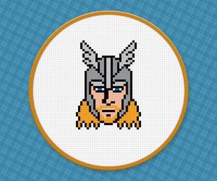 Thor - Free PDF Cross Stitch Pattern