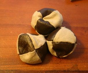 Custom 'Octohedral' Juggling Bags (or Hacky Sacks)