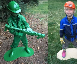 Plastic Army Man Living Statue Costume