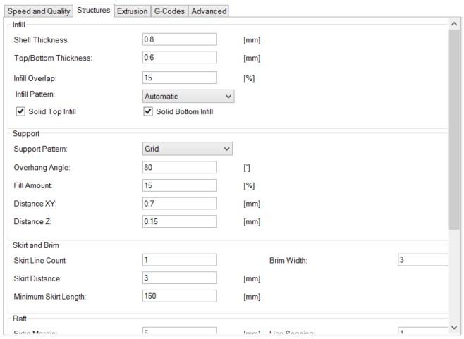 Picture of Software: CuraEngine Configuration