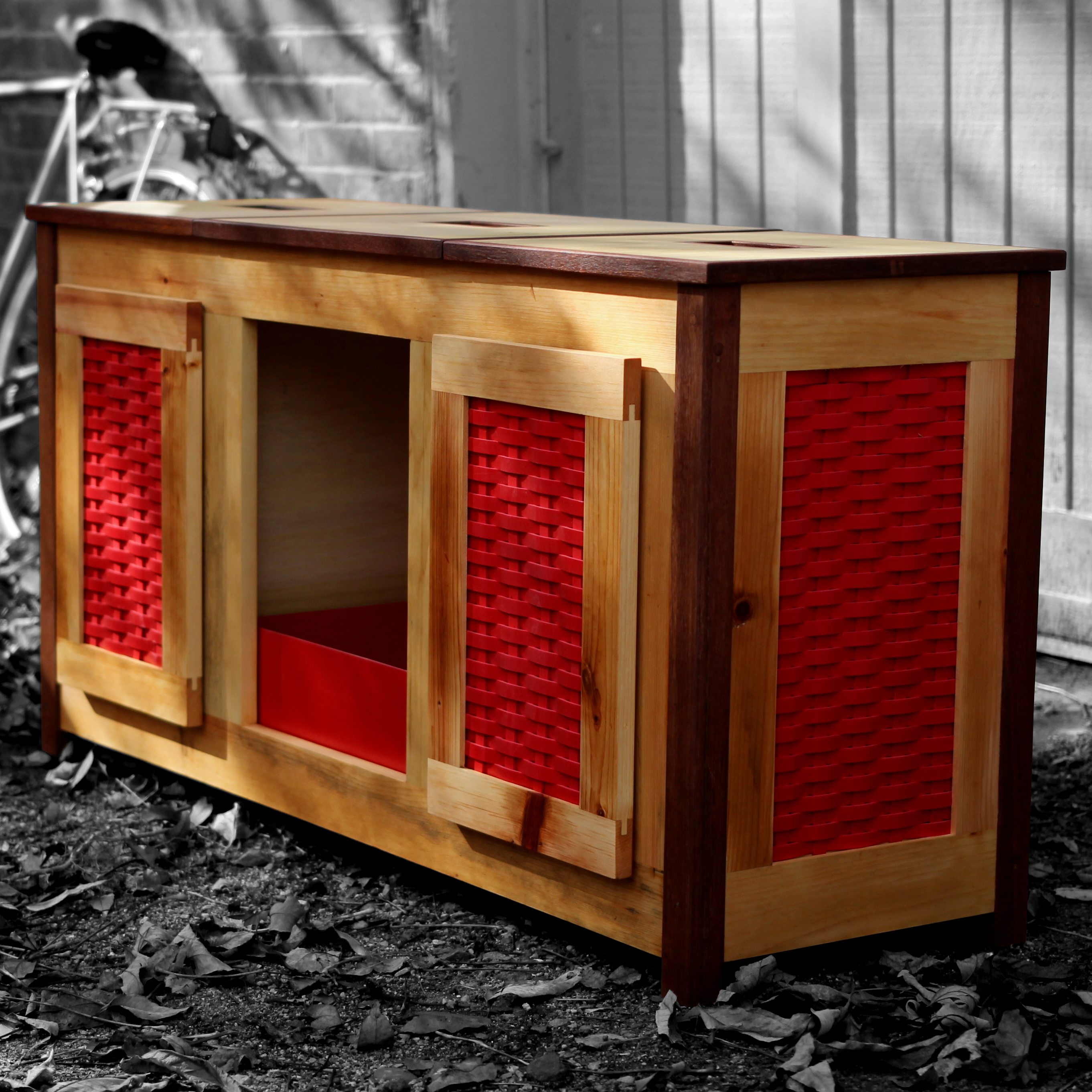 Picture of Upcycled Plastic Weave - Bathroom Storage & Litter Box
