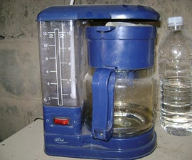 DIY $5 Brita style water filter made from Coffee maker